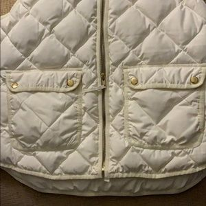 White JCrew half zip vest